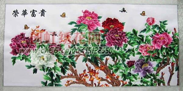 电脑刺绣挂画,荣华富贵,牡丹 绣花花样 绣花图案 刺绣图案 -电脑图片
